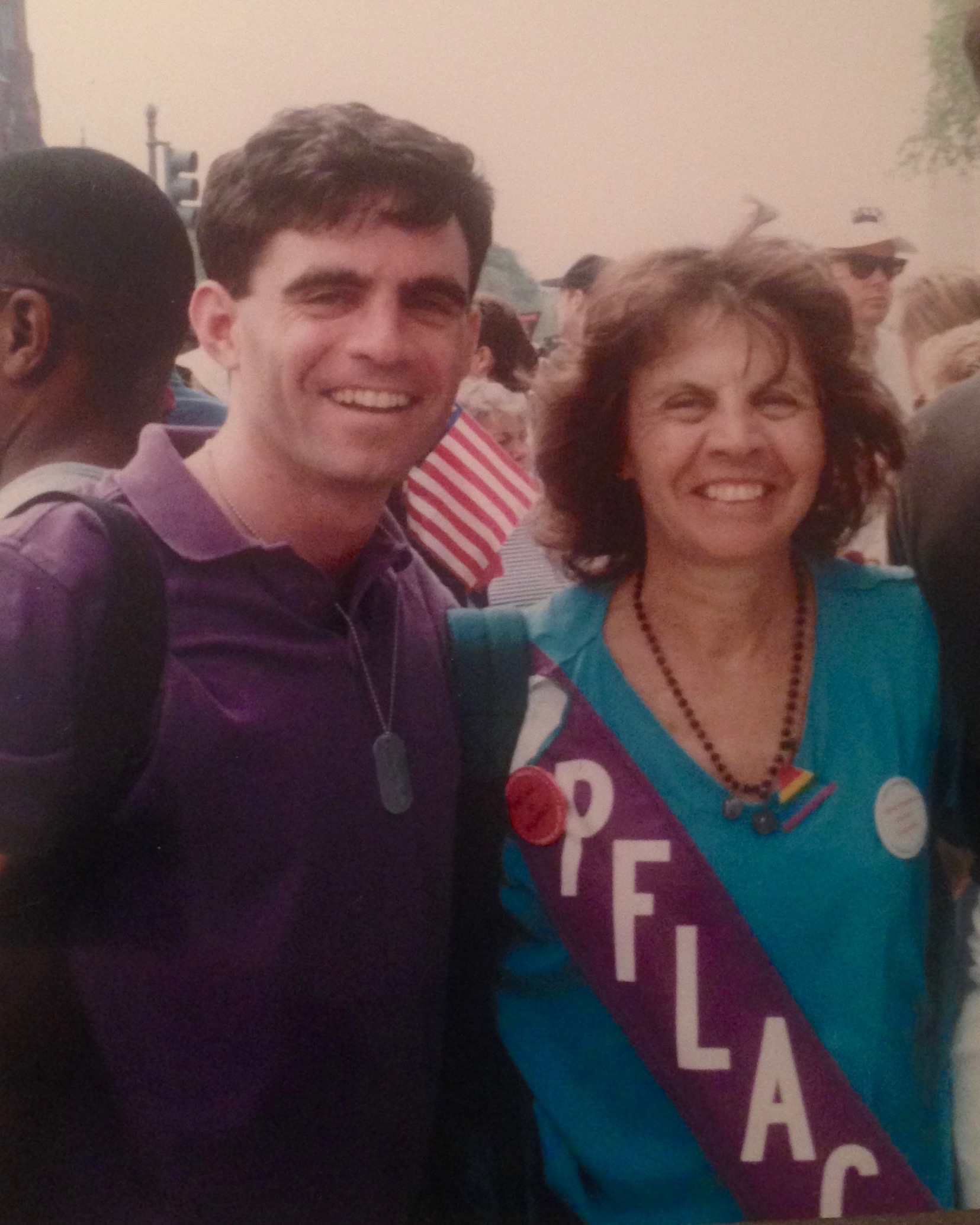 Eric Marcus with his mother, Cecilia Marcus, at the 1993 March on Washington for Lesbian, Gay, and Bi Equal Rights and Liberation. Courtesy Eric Marcus