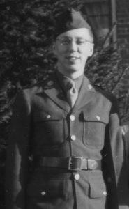 Chuck Rowland, Army Staff Sergeant, 1943.