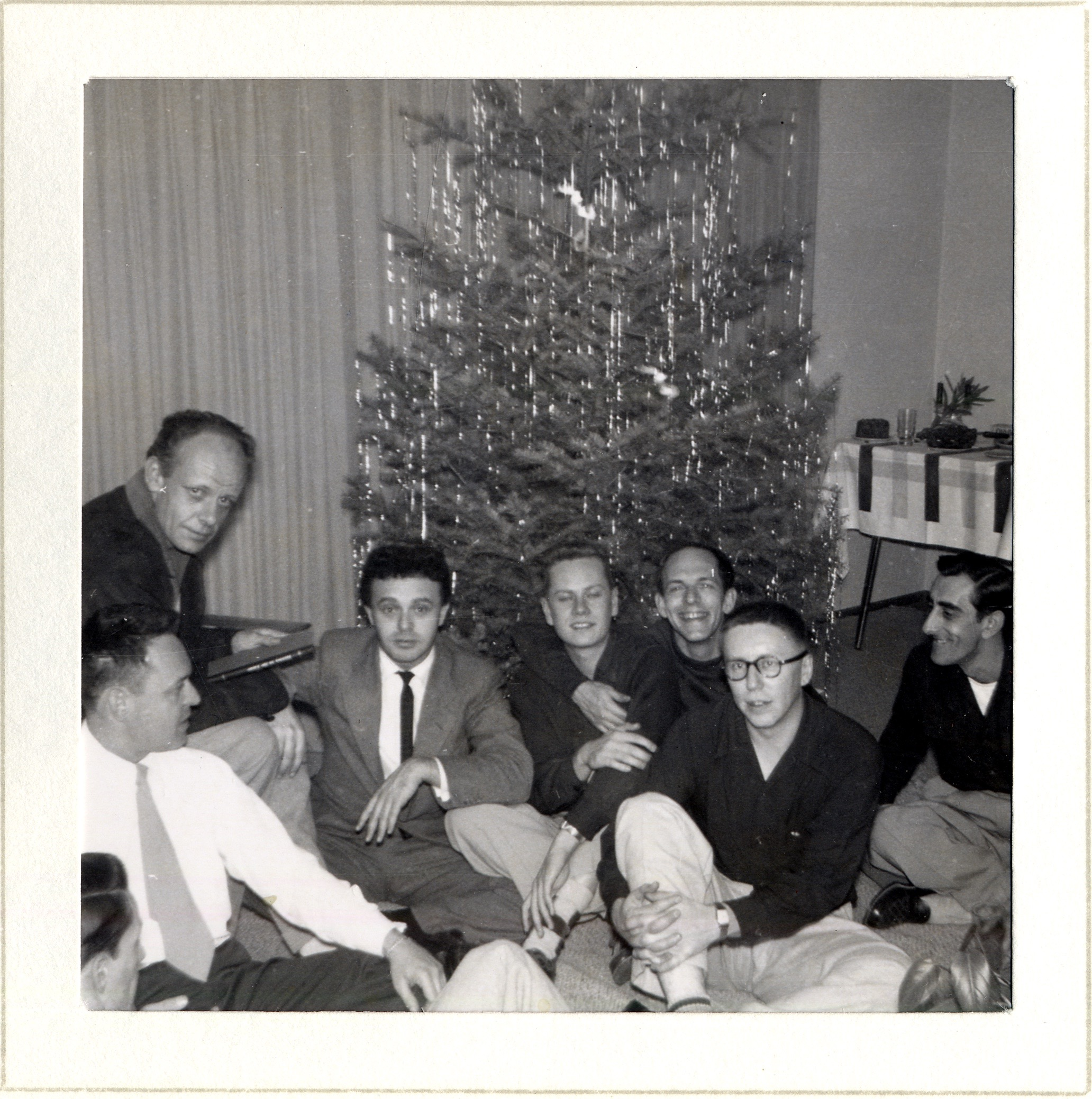 The first Mattachine Christmas party, December 1951.