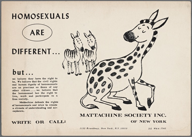1960 Flyer from the Mattachine Society Inc. of New York.