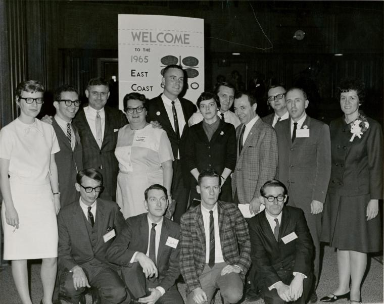 Participants in the East Coast Homophile Organization September 24-26, 1965 conference in New York City.